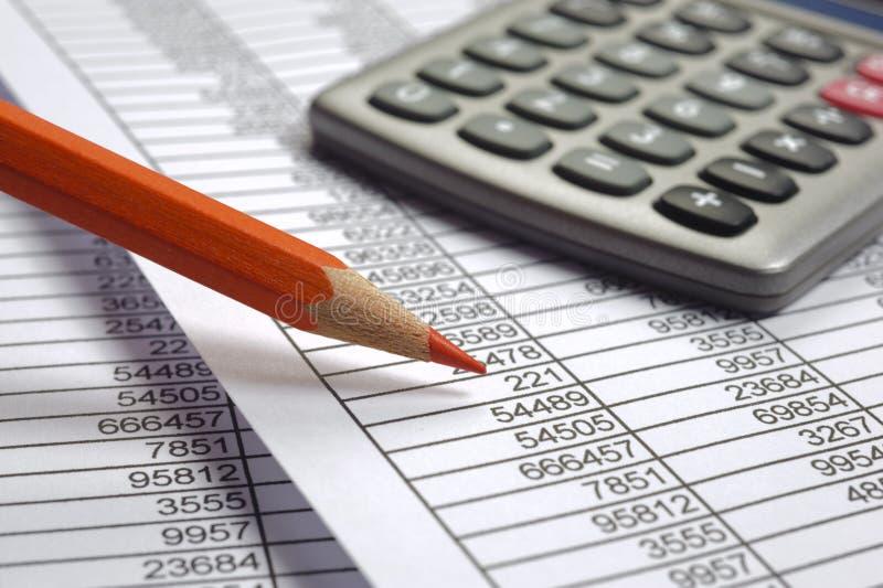 Cálculo de negócio da finança imagens de stock royalty free