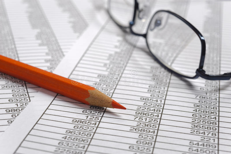 Cálculo de negócio da finança imagem de stock royalty free