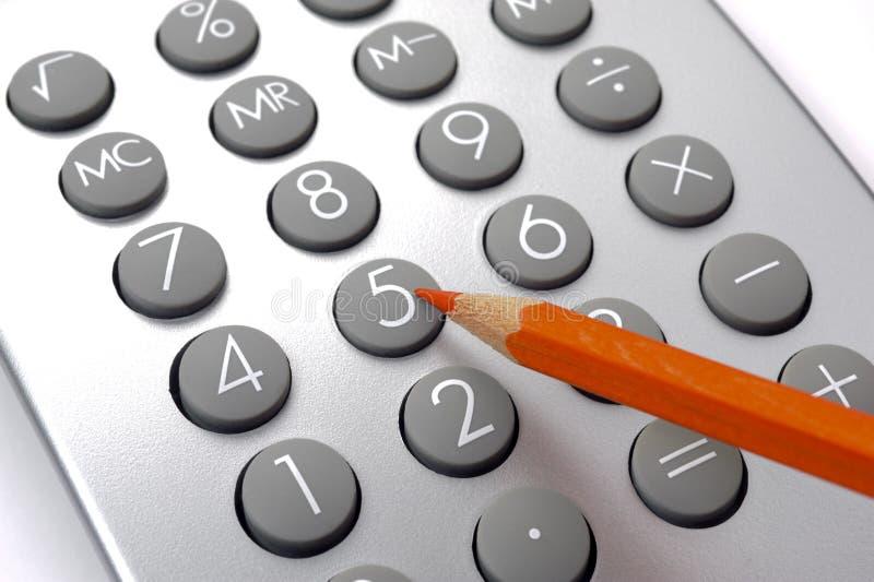 Cálculo de negócio financeiro imagens de stock royalty free