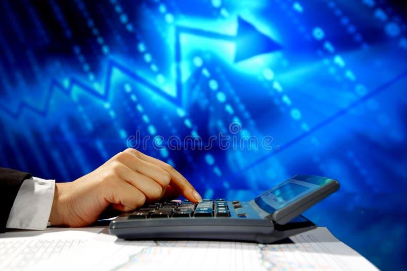 Cálculo dos dados fotografia de stock royalty free