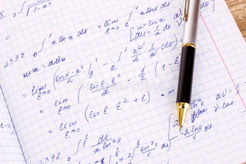 Cálculo matemático imagem de stock royalty free