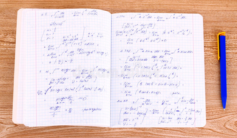 Cálculo matemático imagens de stock royalty free