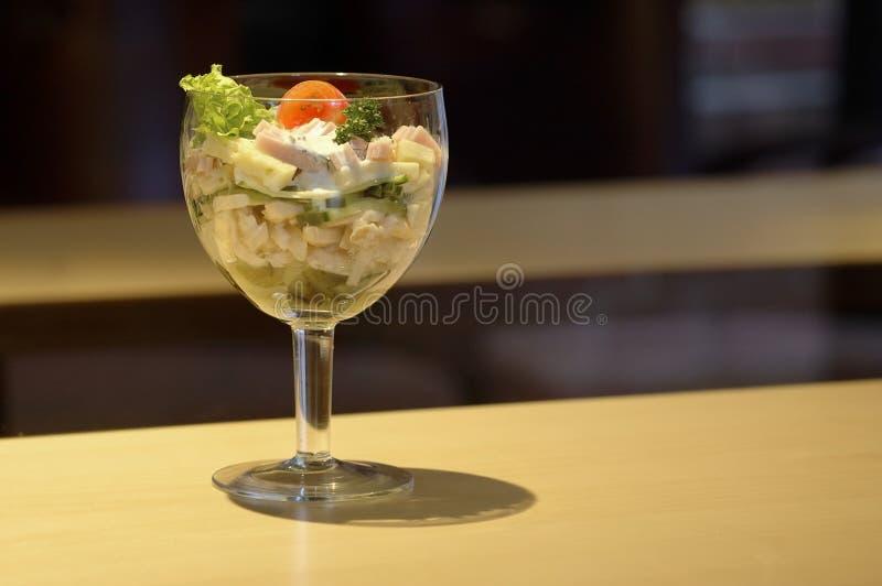 Download Cálice da salada do queijo imagem de stock. Imagem de dieta - 63253