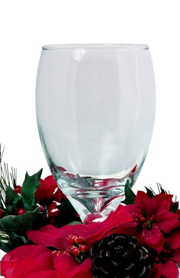 Cálice de vidro do Natal fotografia de stock