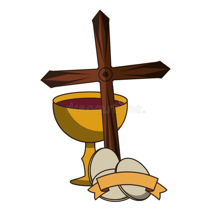 Cáliz católica con el vino libre illustration
