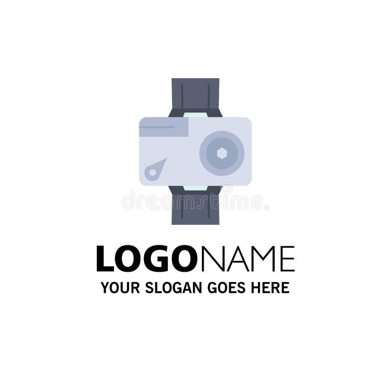 cámara, acción, digital, video, vector plano del icono del color de la foto ilustración del vector