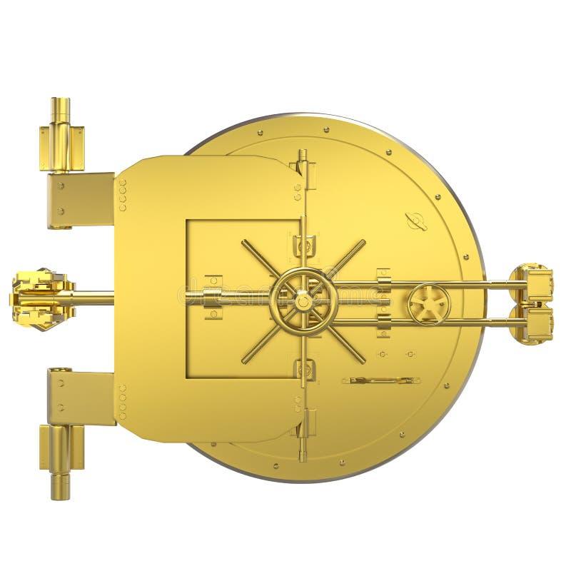 Cámara acorazada de banco de oro libre illustration