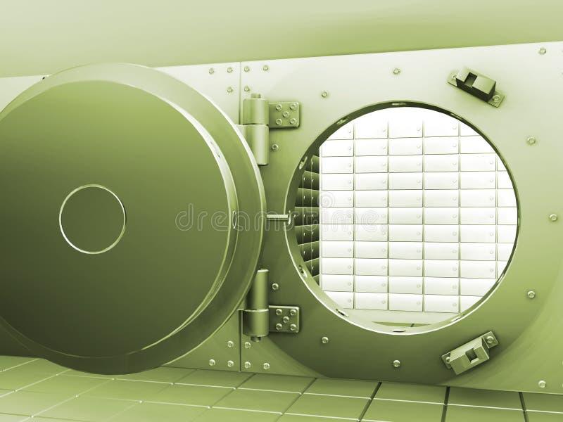 Cámara acorazada de batería ilustración del vector