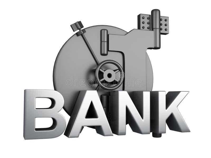 Cámara acorazada de batería cerrada Caja fuerte del banco, concepto de la seguridad libre illustration