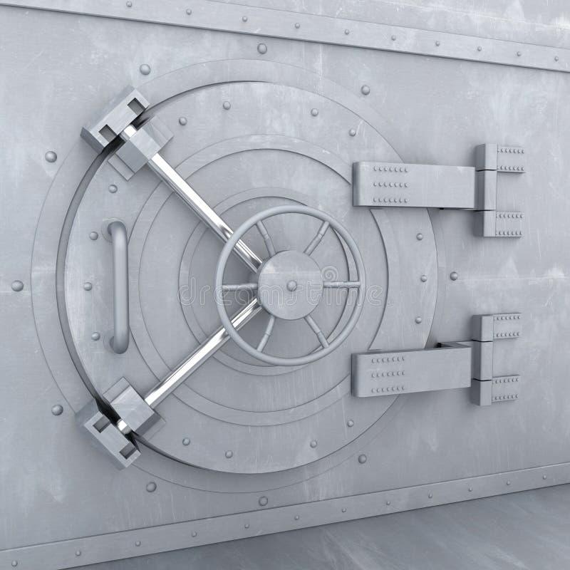 Cámara acorazada de batería vieja ilustración del vector