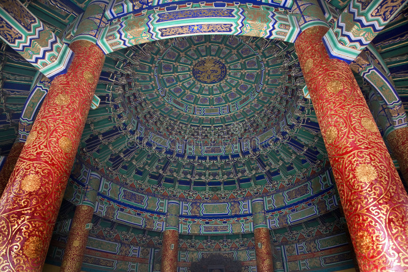Cámara acorazada imperial dentro del templo Pekín fotos de archivo libres de regalías