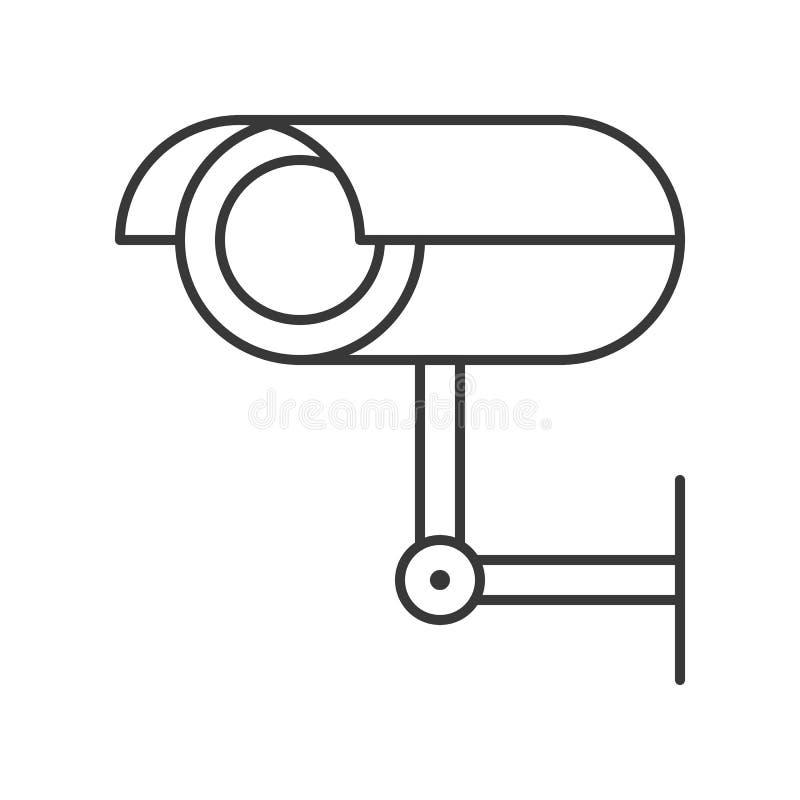 Cámara CCTV, movimiento editable del icono de la policía del diseño relacionado del esquema ilustración del vector