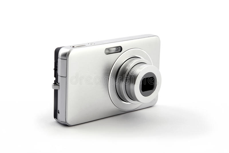 Cámara compacta digital de plata de la foto foto de archivo libre de regalías