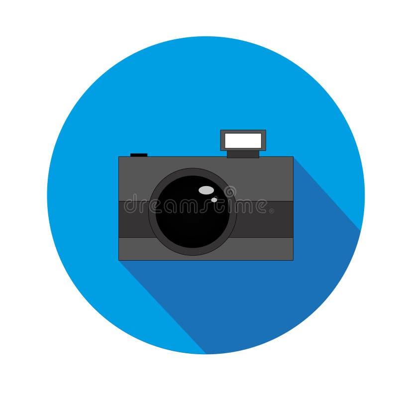 Cámara con el flash fotografía de archivo libre de regalías