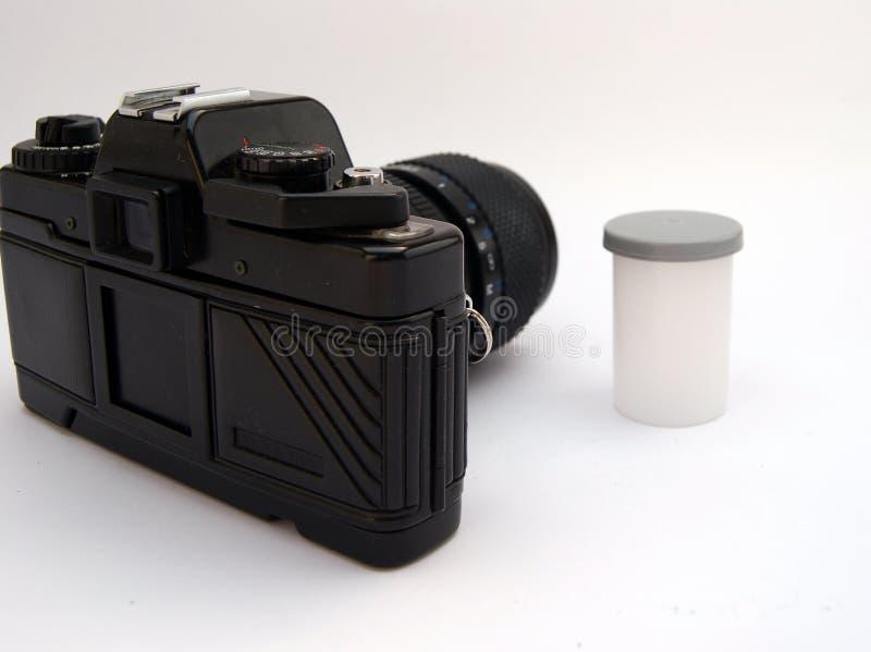 Cámara con la película fotografía de archivo libre de regalías