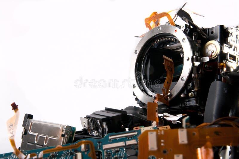 Cámara de Broked DSLR foto de archivo