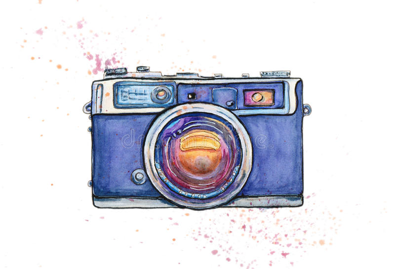 Cámara de la foto del vintage stock de ilustración