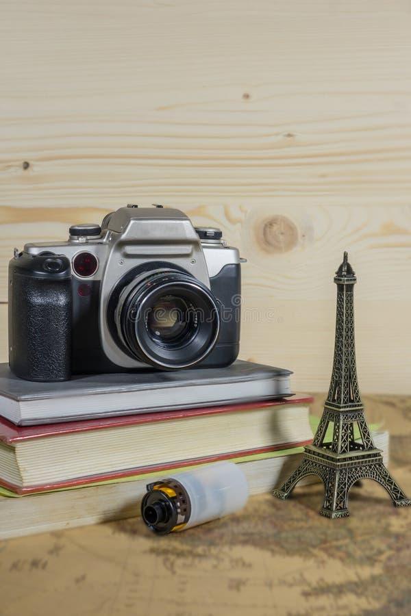 Cámara de la película del viaje de Francia imagen de archivo