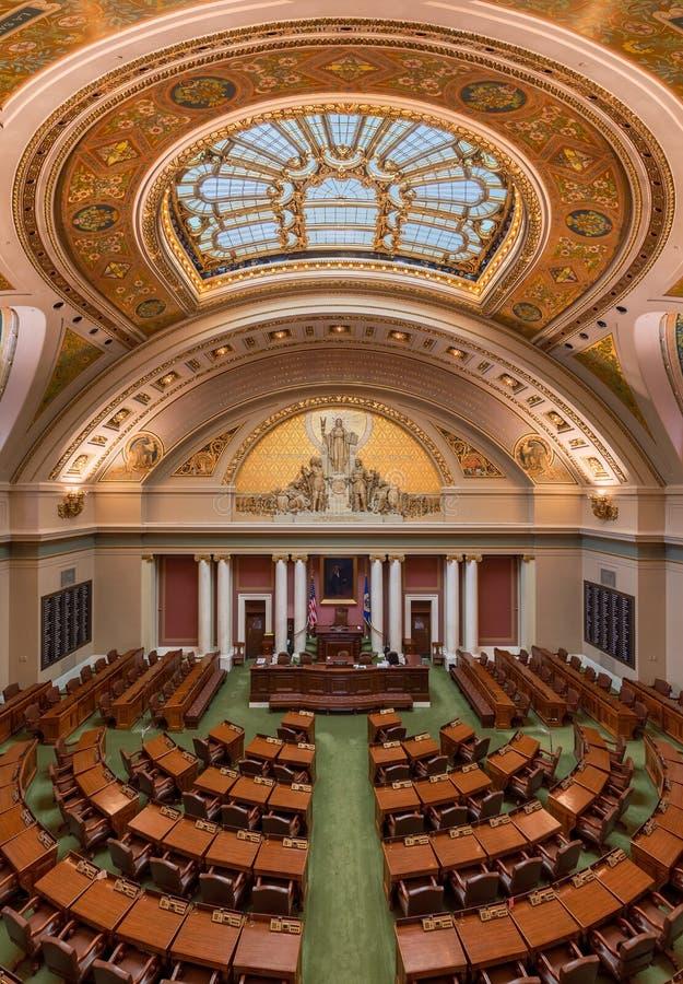 Cámara de Minnesota de representantes fotografía de archivo