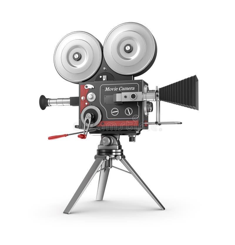 Cámara de película del viejo estilo stock de ilustración