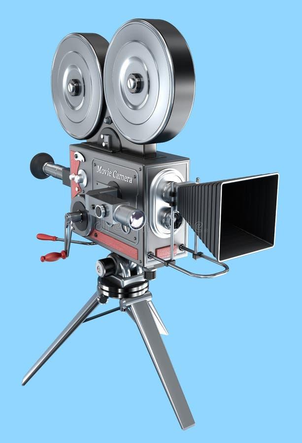Cámara de película del viejo estilo, stock de ilustración