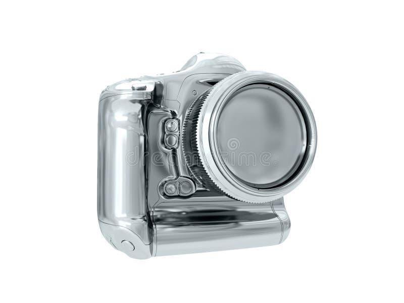 cámara de plata representación 3d fotos de archivo