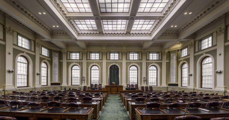 Cámara de representantes en Maine fotografía de archivo