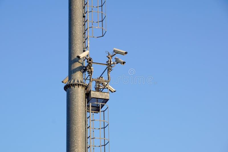 Cámara de seguridad del whith del polo ligero vigilancia del vídeo del cctv imagen de archivo