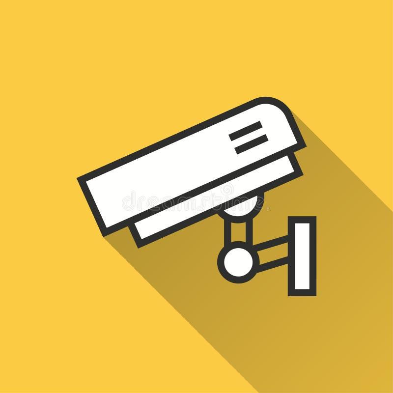 Cámara de seguridad - icono del vector para el gráfico y el diseño web libre illustration