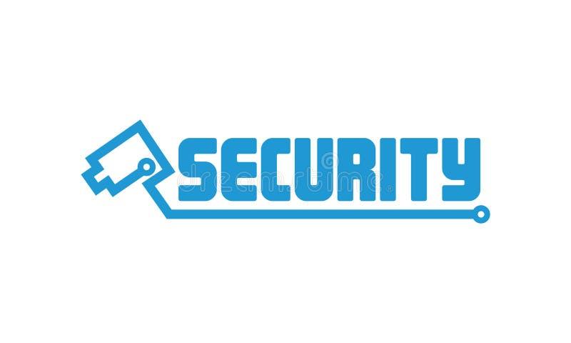 Cámara de seguridad Logo Design imagenes de archivo