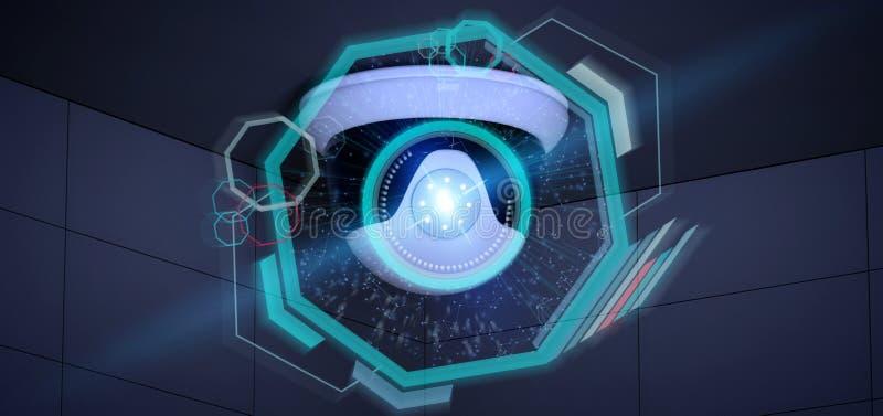 Cámara de seguridad que apunta una intrusión detectada - renderinga 3d libre illustration