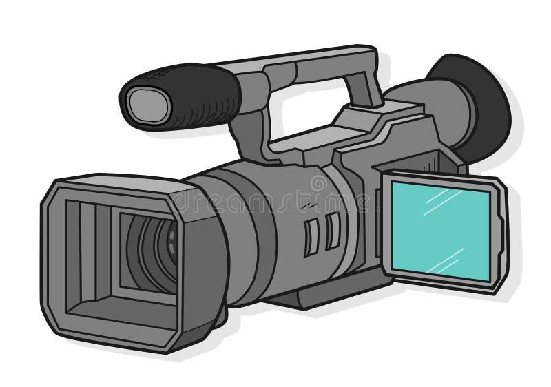 Cámara de televisión stock de ilustración