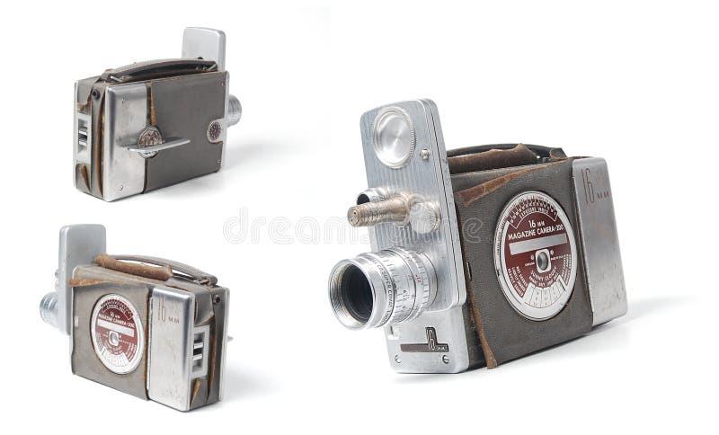 Cámara de vídeo de la vendimia imagenes de archivo