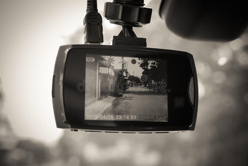 Cámara del coche del CCTV para la seguridad en el camino Registrador de la cámara imagenes de archivo
