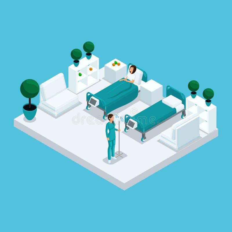 Cámara del hospital de Isometry ilustración del vector