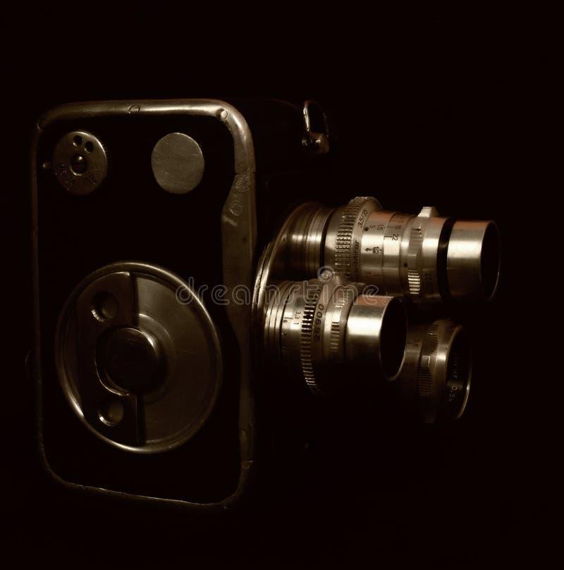 Cámara del vintage con tres lentes foto de archivo
