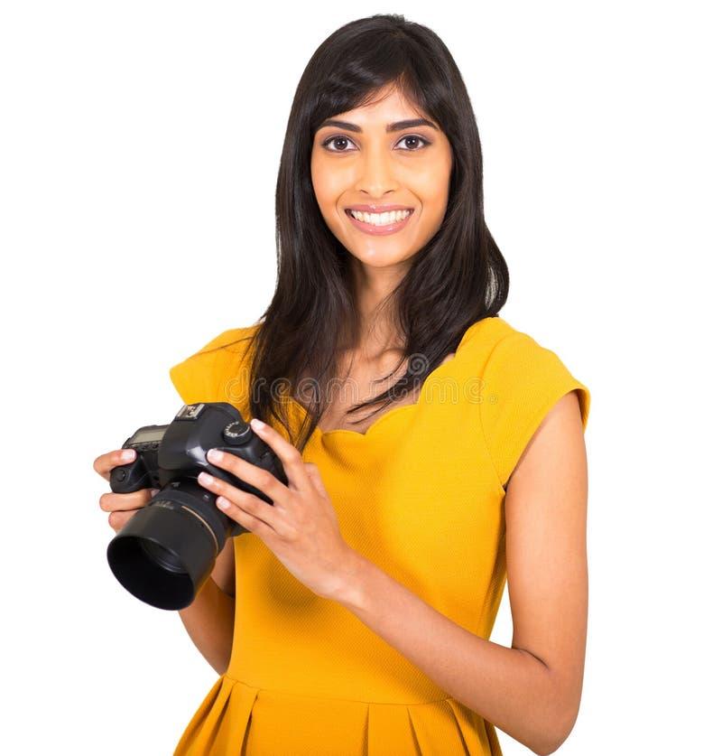 Download Cámara india de la mujer imagen de archivo. Imagen de magnífico - 42425591