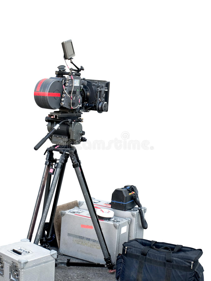 Cámara profesional de la grabación de la película fotografía de archivo
