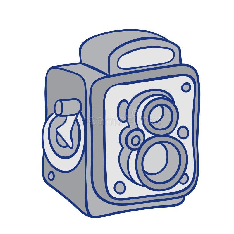 Cámara retra de la foto ilustración del vector