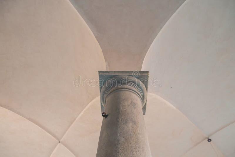 Cámaras acorazadas y columna cruzadas imagen de archivo libre de regalías