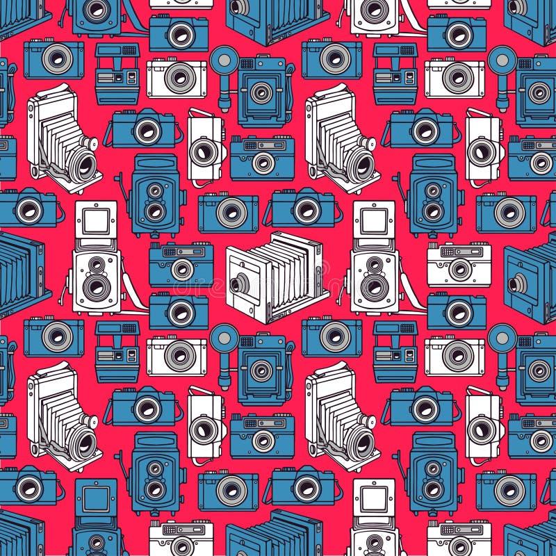 Cámaras azules y blancas inconsútiles libre illustration