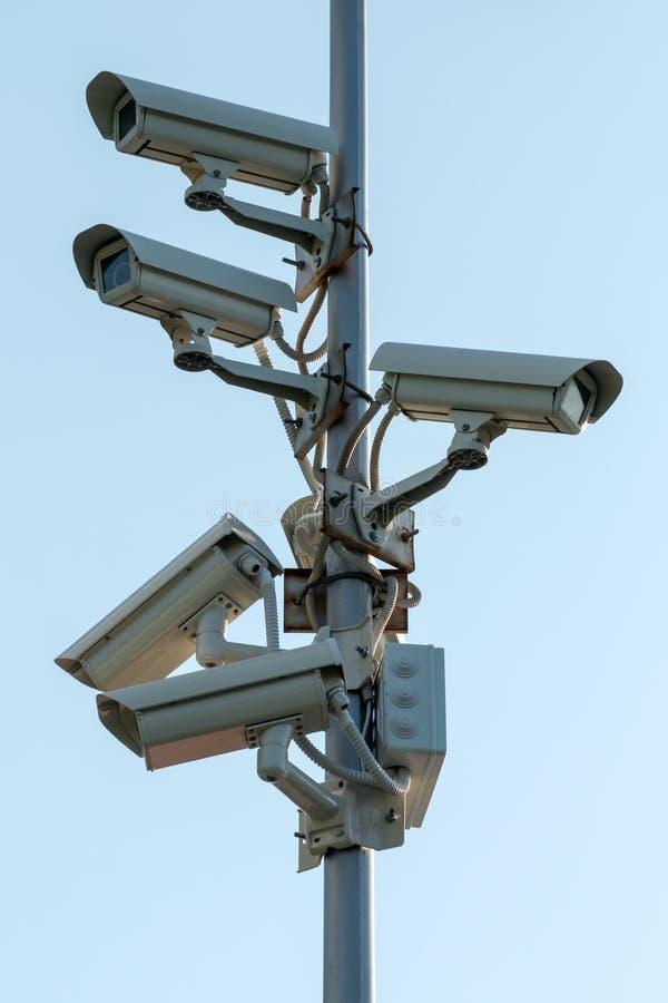 Cámaras CCTV de la seguridad foto de archivo