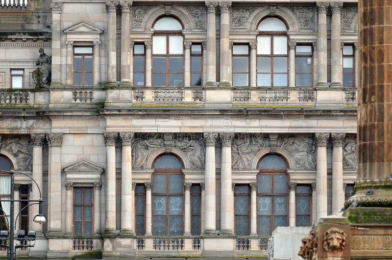 Cámaras de la ciudad en George Square, Glasgow, Escocia fotos de archivo libres de regalías