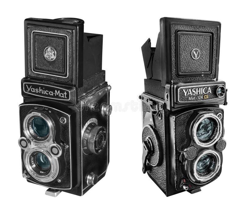 Cámaras de la estera -124 y del copal MXV de Yashica fotos de archivo libres de regalías