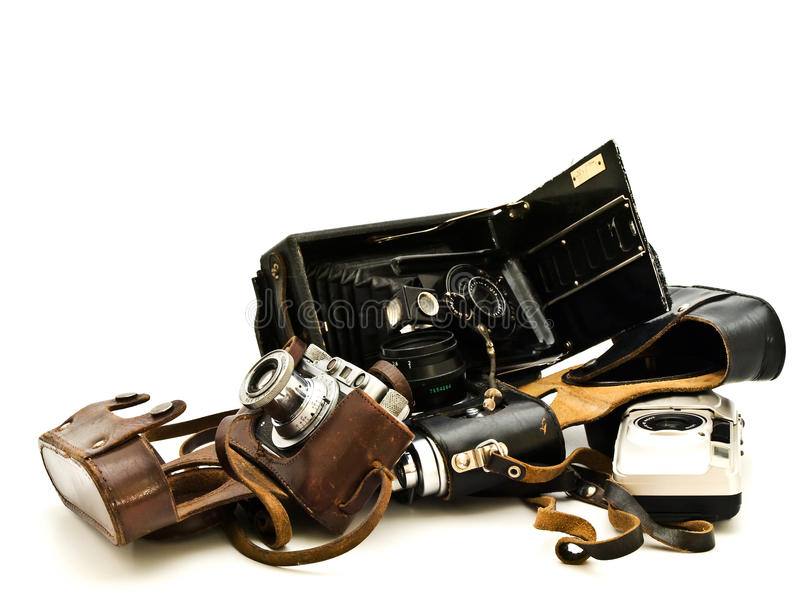 Cámaras de la vendimia fotos de archivo libres de regalías