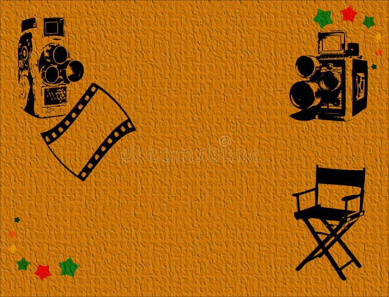 Cámaras de película clásicas ilustración del vector