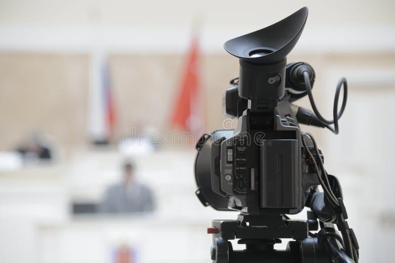 Cámara de televisión. foto de archivo