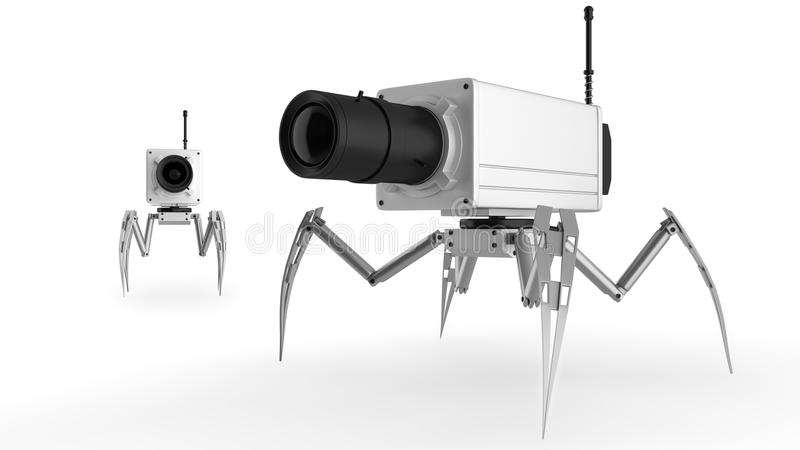 Cámaras de vigilancia en las piernas imagen de archivo libre de regalías