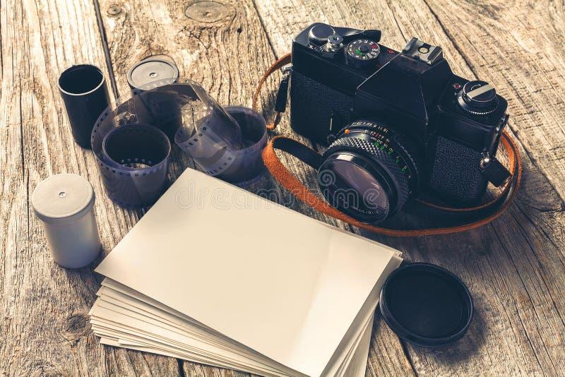 Cámaras y fotos retras fotos de archivo libres de regalías