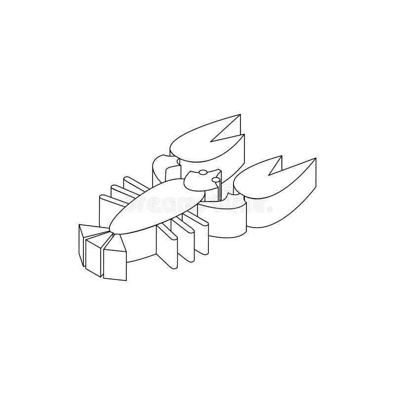 Cáncer al icono de la cerveza, estilo isométrico 3d ilustración del vector